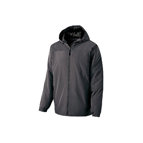 229017 Holloway 229017 Adult Polyester Full Zip Bionic Hooded Jacket CARBON/BLACK