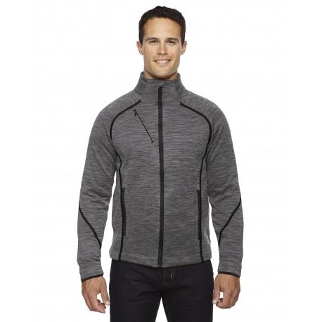 88697 North End 88697 Men's Flux Melange Bonded Fleece Jacket CARBON/BLK 456