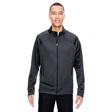 88806 North End 88806 Men's Cadence Interactive Two-Tone Brush Back Jacket CARBON/BLK 456