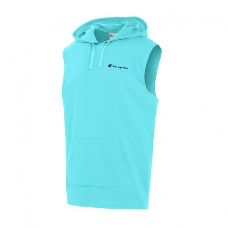 S5711 550754 Champion S5711 550754 Mens Middleweight Sleeveless Hoodie BLUE HORIZON