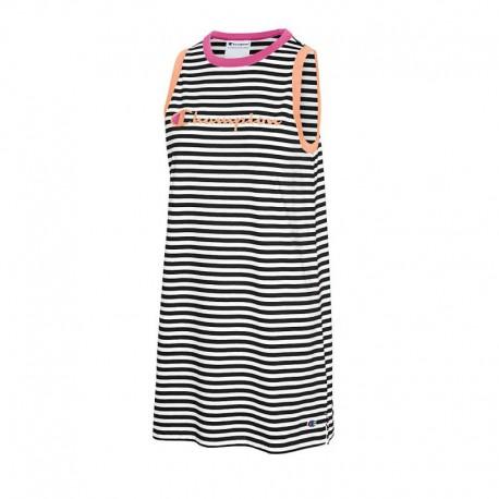 W5680 550757 Champion W5680 550757 Campus Stripe Tank Dress BLACK/WHITE