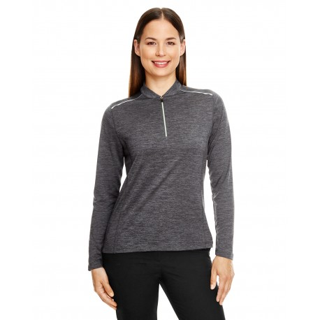 CE401W Core 365 CE401W Ladies' Kinetic Performance Quarter-Zip CARBON/BLK 456