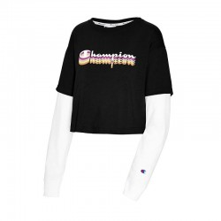 Champion W5749G 550781 Middleweight Cropped Two-fer Tee