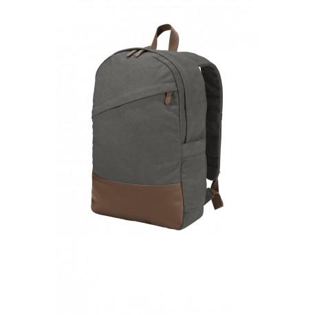 BG210 Port Authority BG210 Cotton Canvas Backpack Dark Smoke Grey