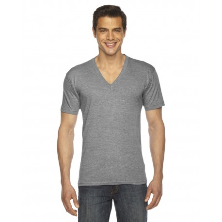 TR461W American Apparel TR461W Unisex Triblend Short-Sleeve V-Neck ATHLETIC GREY