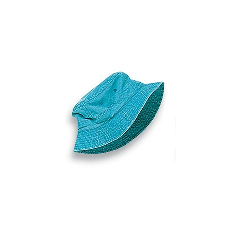 ACVA101 Adams ACVA101 Vacationer Pigment Dyed Bucket Hat CARIBBEAN BLUE