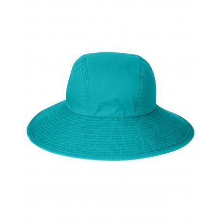 SL101 Adams SL101 Ladies' Sea Breeze Floppy Hat CARIBBEAN BLUE