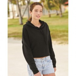Independent Trading Co. AFX64CRP Womens Lightweight Cropped Hooded Sweatshirt