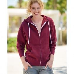 Independent Trading Co. AFX90UNZ Unisex Lightweight Full-Zip Hooded Sweatshirt