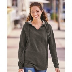 Independent Trading Co. PRM2500 Womens Lightweight California Wave Wash Hooded Sweatshirt