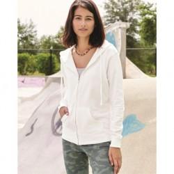 Independent Trading Co. SS650Z Juniors Heavenly Fleece Full-Zip Hooded Sweatshirt