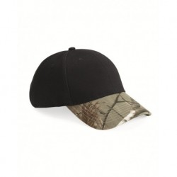 Kati LC25 Solid Crown Cap with Camo Visor