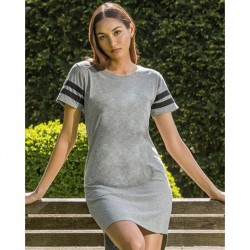 MV Sport W20422 Womens Varsity T-Shirt Dress