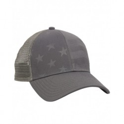 Outdoor Cap USA750M Debossed Stars and Stripes Mesh-Back Cap