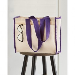 Q-Tees Q1100 14L Tote with Contrast-Color Handles