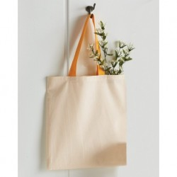 Q-Tees QTB6000 Economical Tote with Contrast-Color Handles