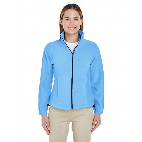 8481 UltraClub 8481 Ladies' Iceberg Fleece Full-Zip Jacket CAROLINA BLUE