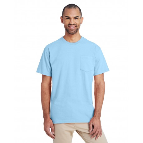 H300 Gildan H300 ADULT Hammer Adult 6 oz. T-Shirt with Pocket CHAMBRAY