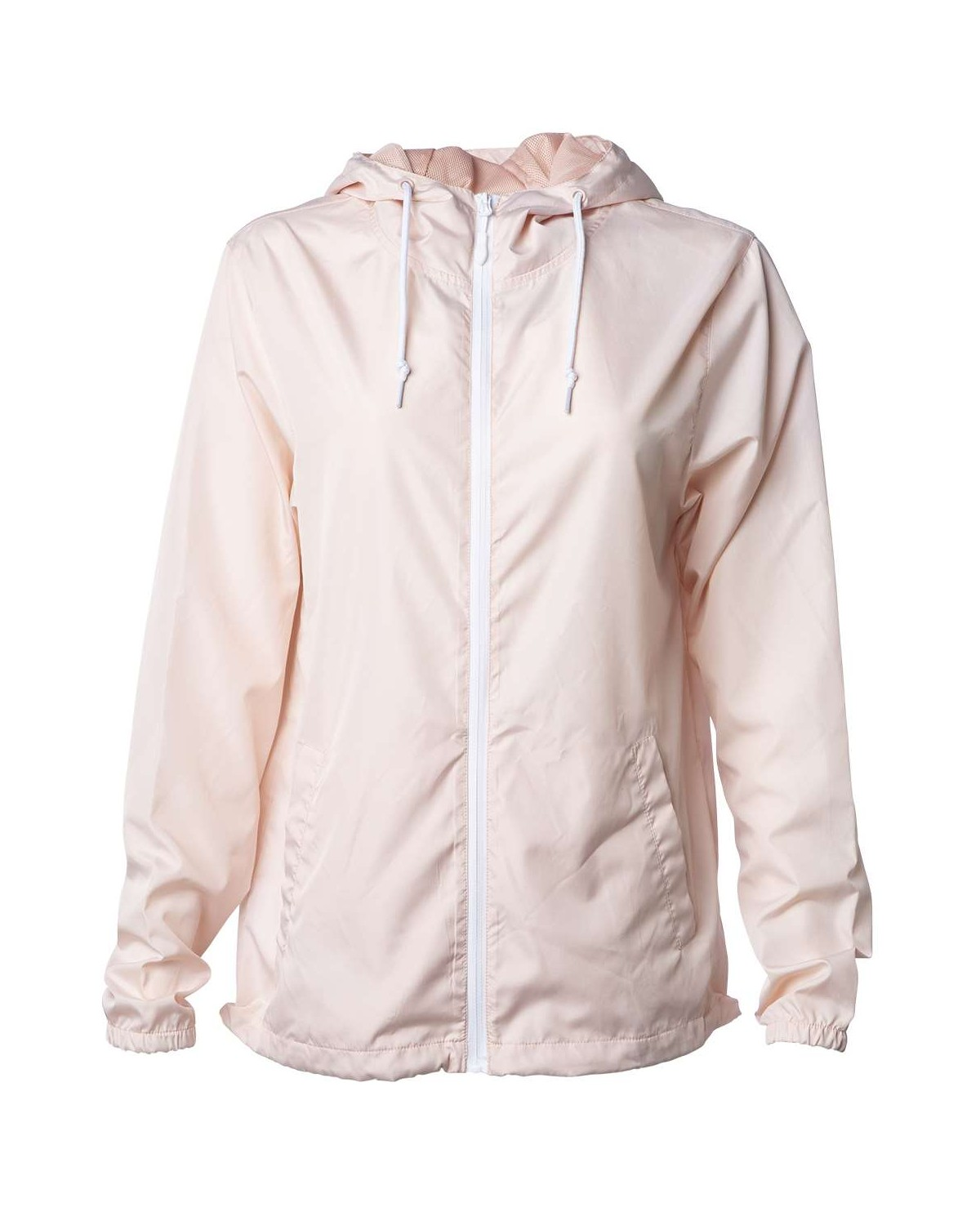 EXP54LWZ Independent Trading Company Blush/ White Zipper