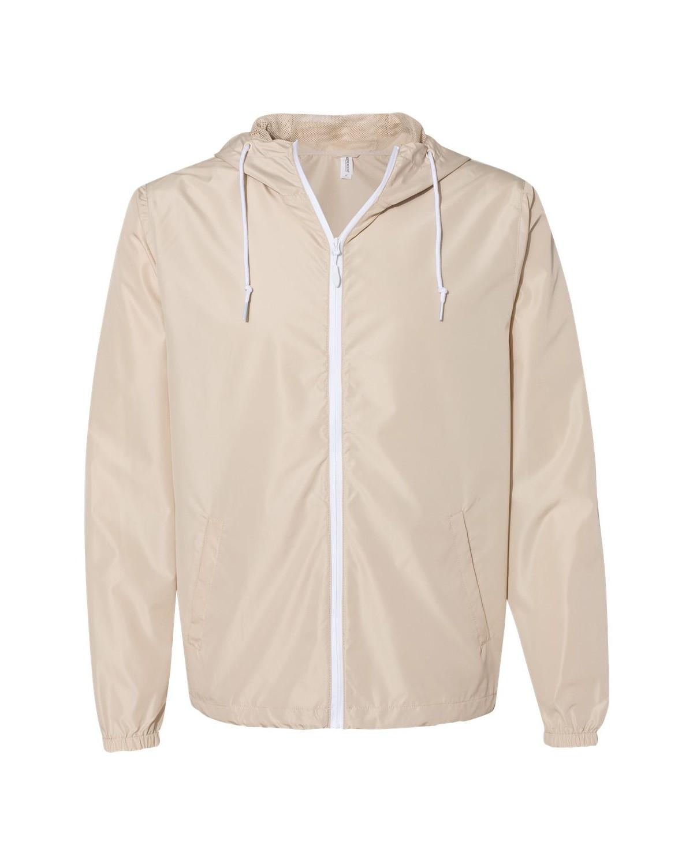EXP54LWZ Independent Trading Company Classic Khaki/ White Zipper