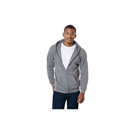 BA900 Bayside BA900 Adult Hooded Full-Zip Fleece CHARCOAL