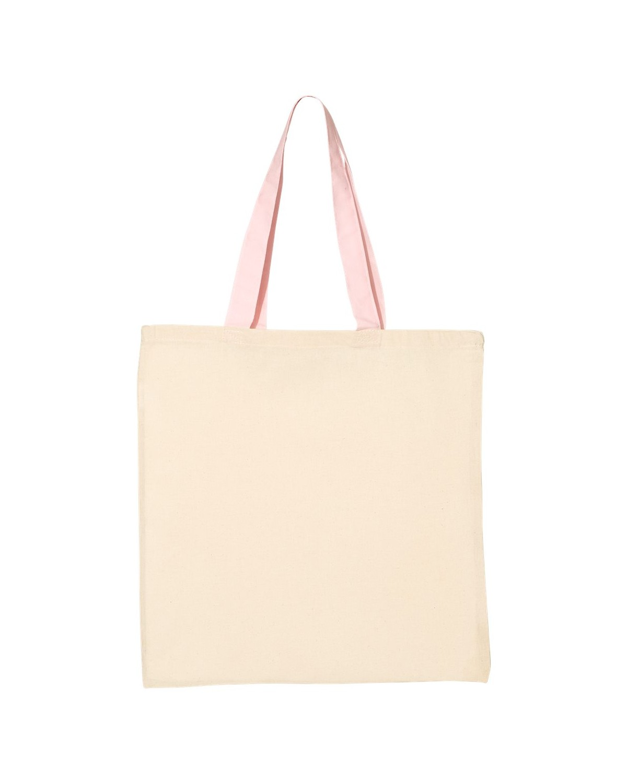 QTB6000 Q-Tees Natural/ Light Pink