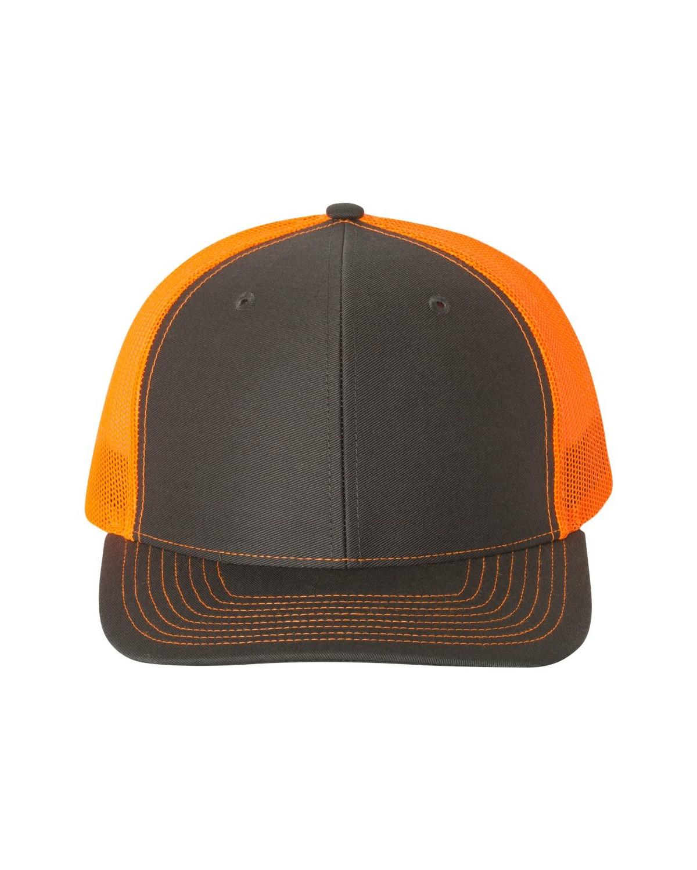 112 Richardson Charcoal/ Neon Orange