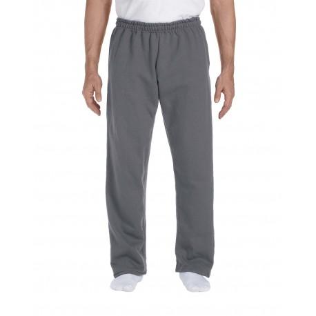 G123 Gildan G123 Adult DryBlend Adult 9 oz., 50/50 Open-Bottom Sweatpants CHARCOAL