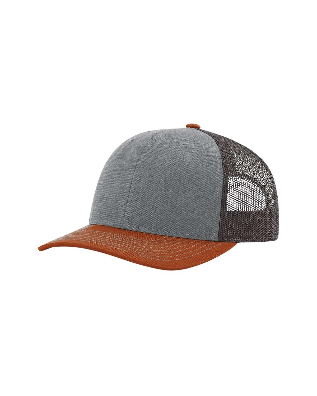 112 Richardson Heather Grey/ Charcoal/ Dark Orange