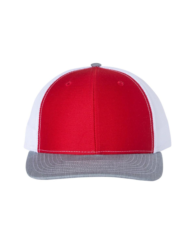 112 Richardson Red/ White/ Heather Grey