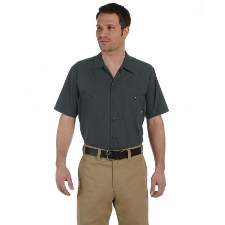 LS535 Dickies LS535 Men's 4.25 oz. Industrial Short-Sleeve Work Shirt CHARCOAL