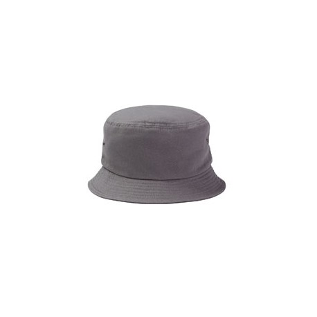 BA534 Big Accessories BA534 Metal Eyelet Bucket Cap CHARCOAL