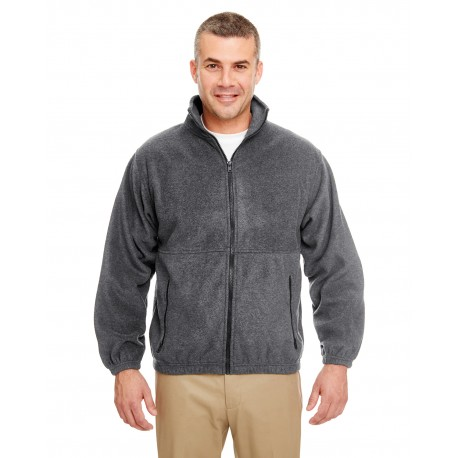 8485 UltraClub 8485 Men's Iceberg Fleece Full-Zip Jacket CHARCOAL