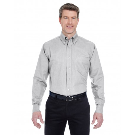 8970T UltraClub 8970T Men's Tall Classic Wrinkle-Resistant Long-Sleeve Oxford CHARCOAL
