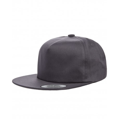Y6502 Yupoong Y6502 Adult Unstructured 5-Panel Snapback Cap CHARCOAL