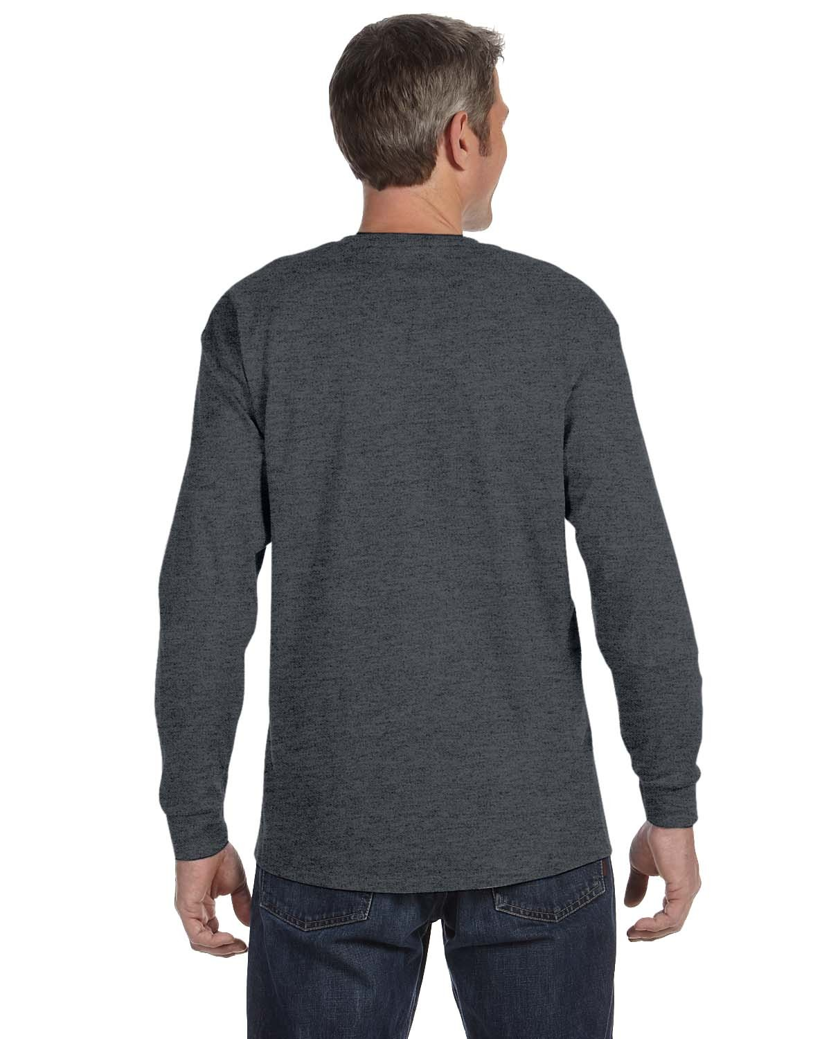 5586 Hanes CHARCOAL HEATHER