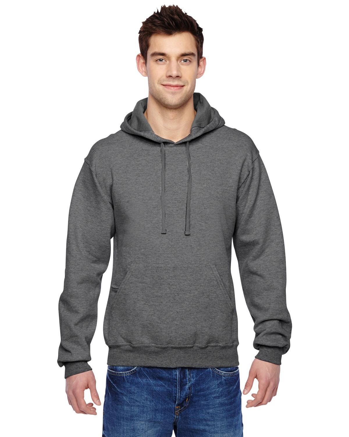 SF76R Fruit of the Loom CHARCOAL HEATHER