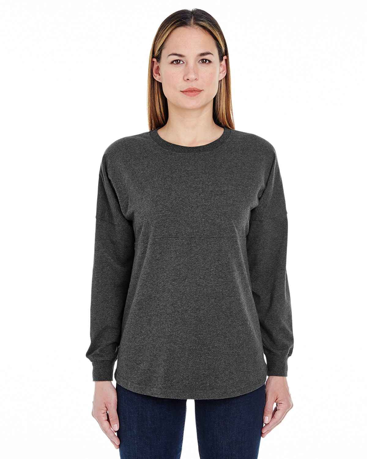 JA8229 J America CHARCOAL HEATHER