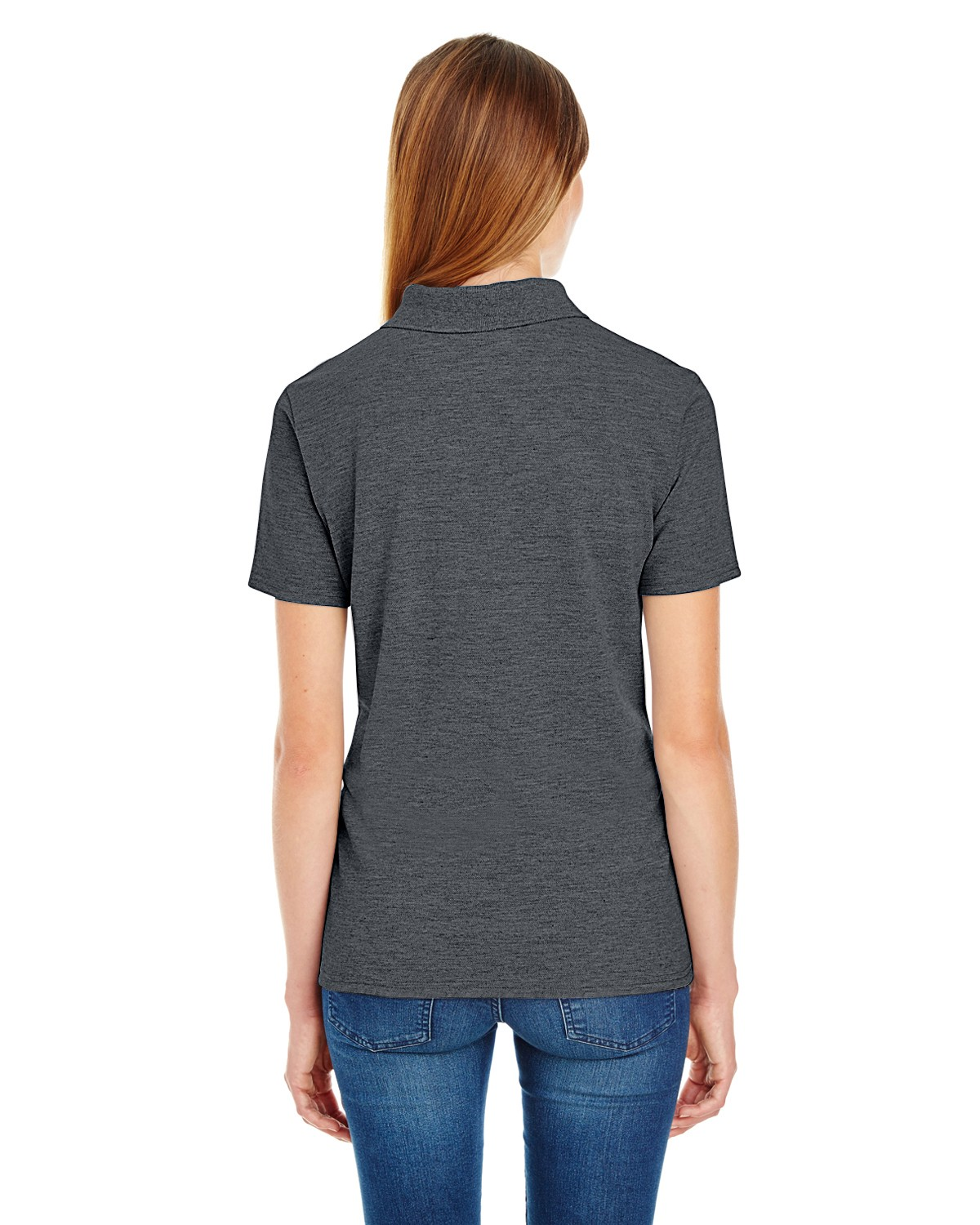 035P Hanes CHARCOAL HEATHER