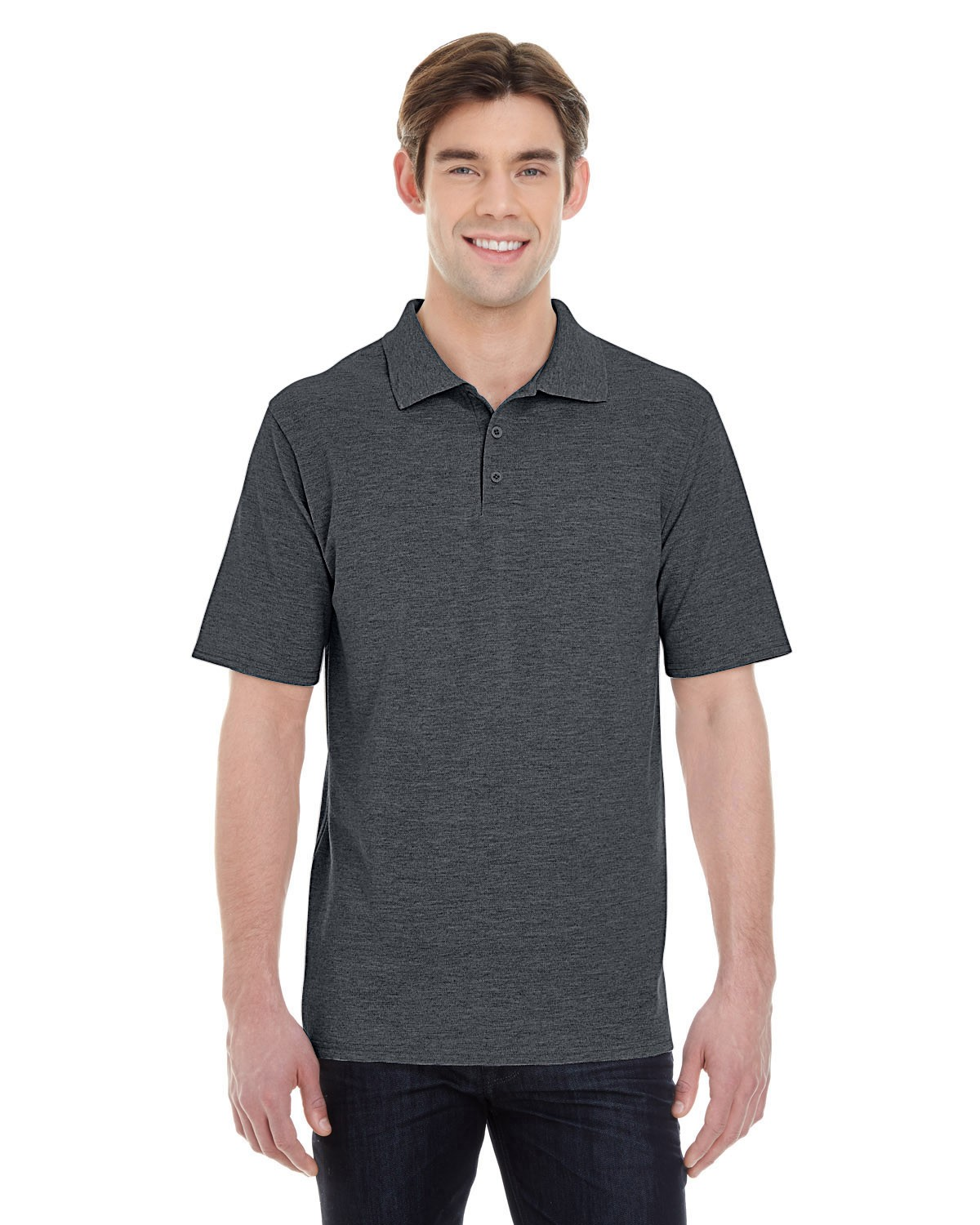 055P Hanes CHARCOAL HEATHER