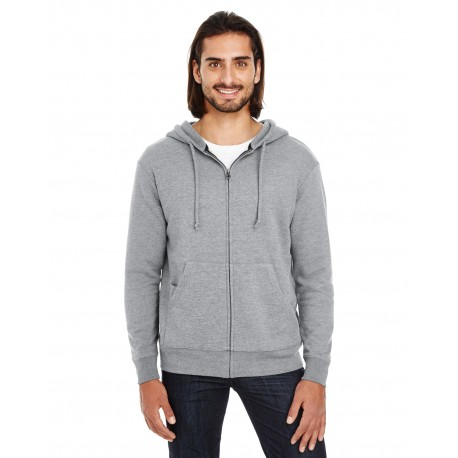 321Z Threadfast Apparel 321Z Unisex Triblend French Terry Full-Zip CHARCOAL HEATHER
