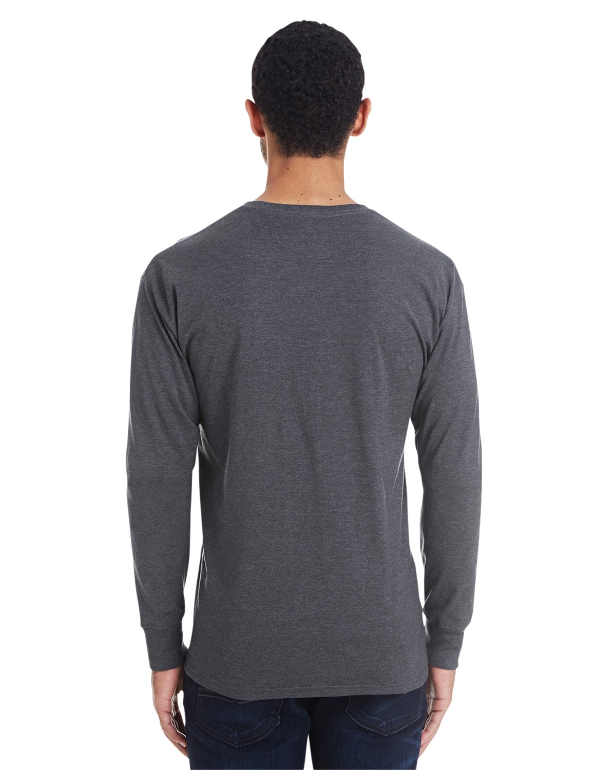 42L0 Hanes CHARCOAL HEATHER