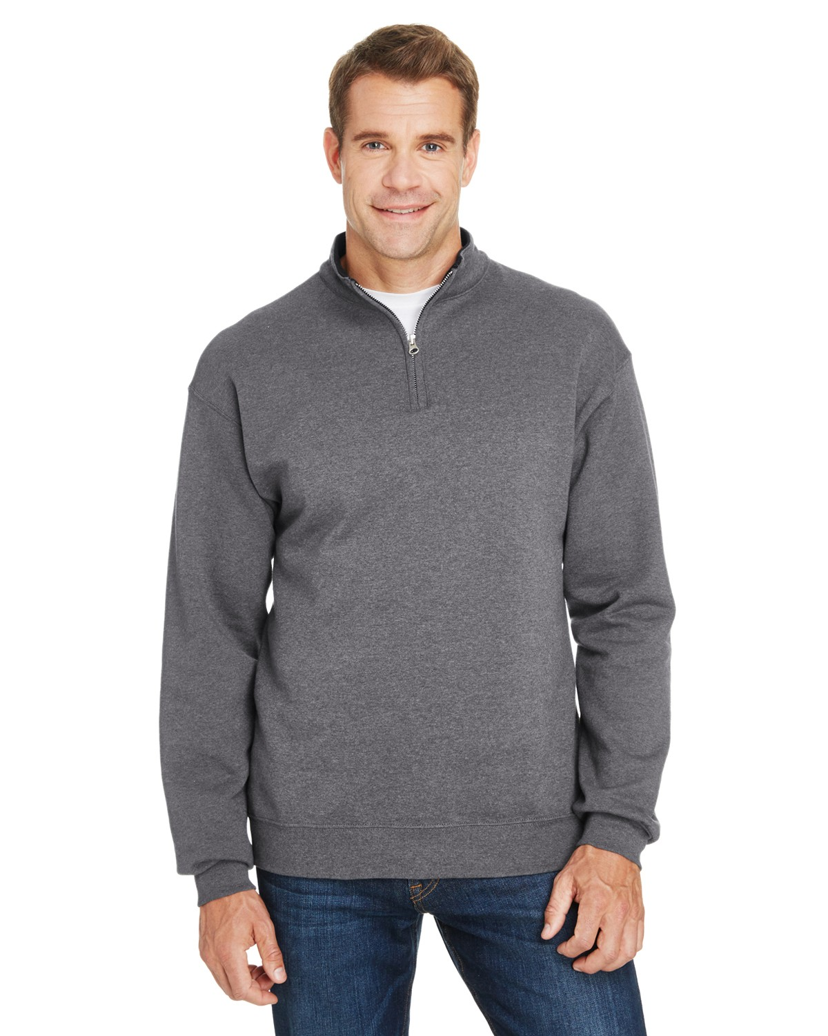 SF95R Fruit of the Loom CHARCOAL HEATHER
