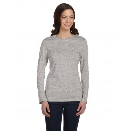 B6500 Bella + Canvas B6500 Ladies' Jersey Long-Sleeve T-Shirt ATHLETIC HEATHER