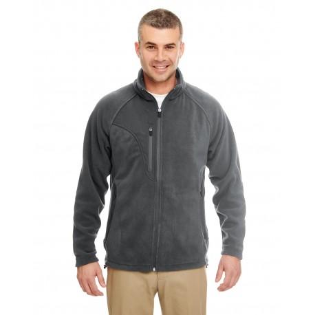8495 UltraClub 8495 Men's Microfleece Full-Zip Jacket CHARCOAL/CHRCL