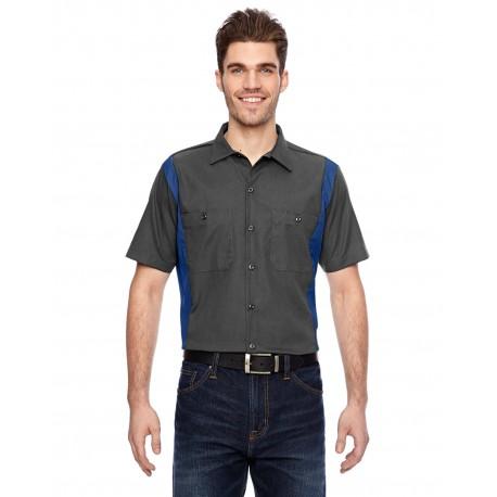 LS524 Dickies LS524 Men's 4.25 oz. Industrial Colorblock Shirt CHRCL/ROY BLUE