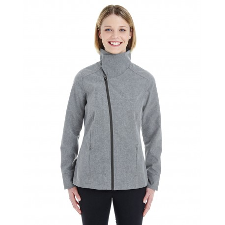 NE705W North End NE705W Ladies' Edge Soft Shell Jacket with Convertible Collar CITY GREY 458