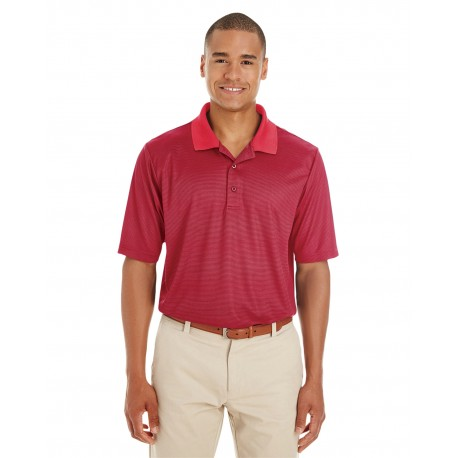 CE102 Core 365 CE102 Men's Express Microstripe Performance Pique Polo CL RED/CRBN 850