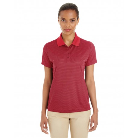 CE102W Core 365 CE102W Ladies' Express Microstripe Performance Pique Polo CL RED/CRBN 850