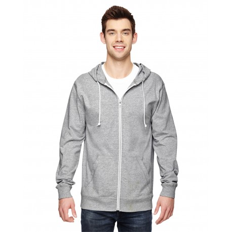 SF60R Fruit of the Loom SF60R Adult 6 oz. Sofspun Jersey Full-Zip ATHLETIC HEATHER